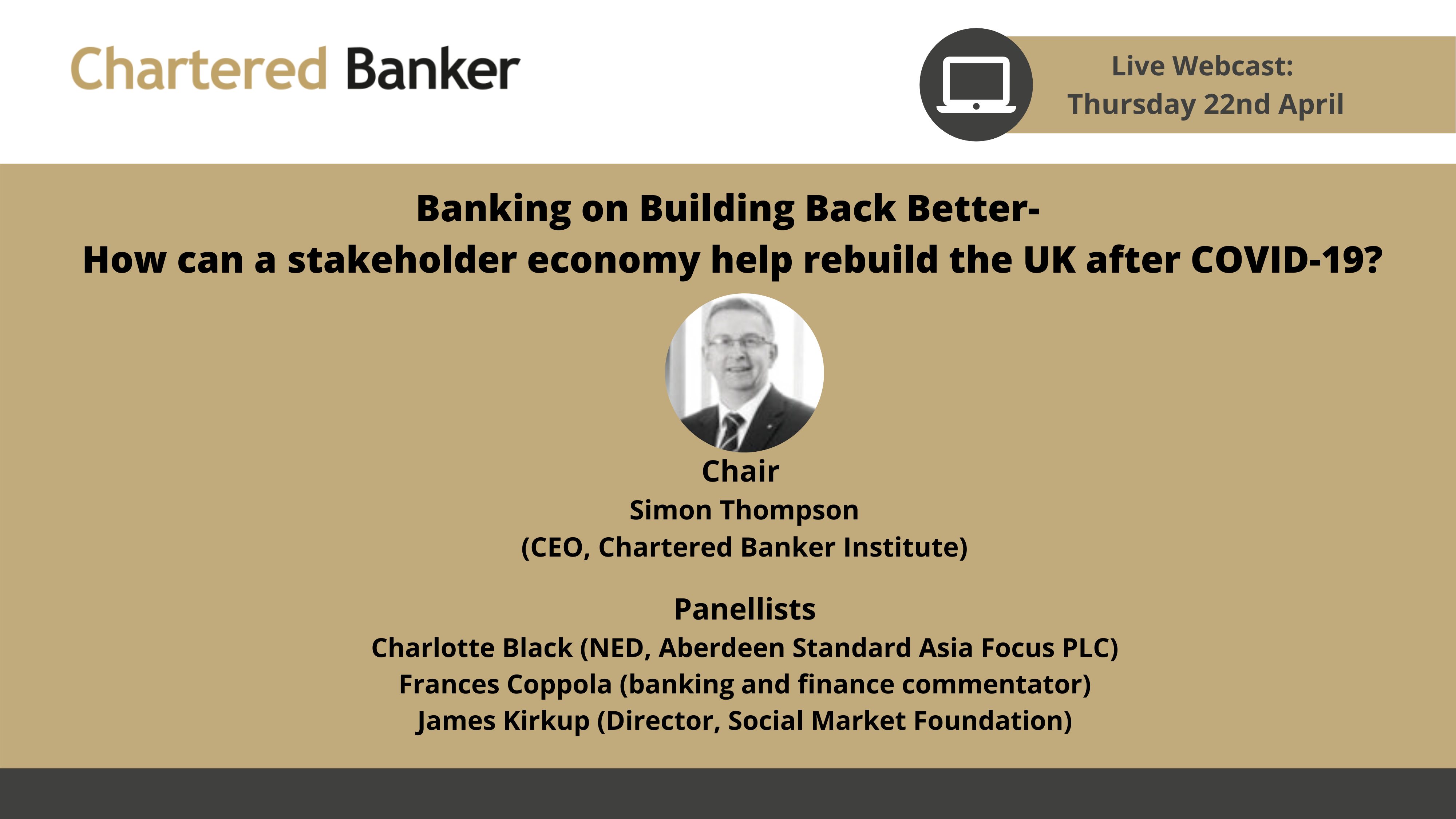 Webcast: Banking on building back better- how can a stakeholder economy help rebuild the UK after COVID-19?