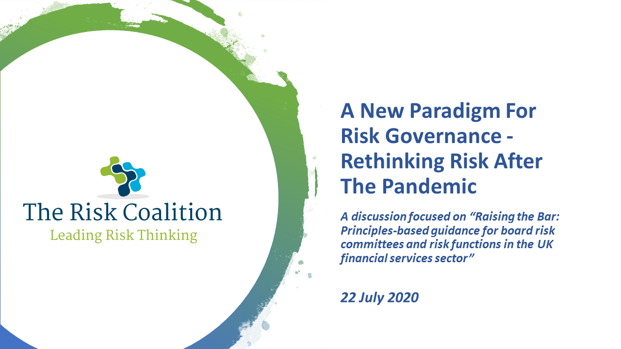 Webcast: A New Paradigm For Risk Governance - Rethinking Risk After The Pandemic