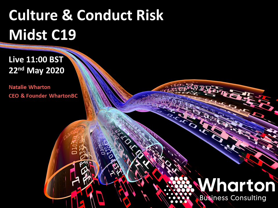 Webcast: How has Covid-19 impacted organisational culture, conduct and ultimately risk appetite?