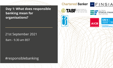 What does responsible banking mean for organisations?